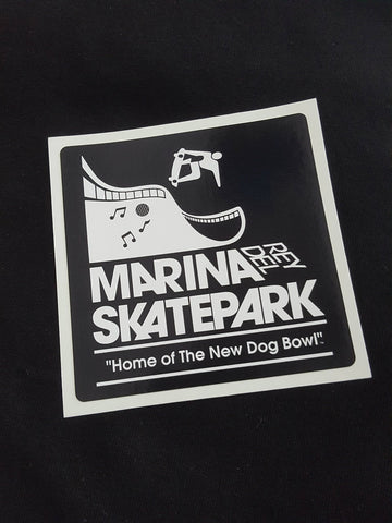 Marina Del Rey sticker  BLACK