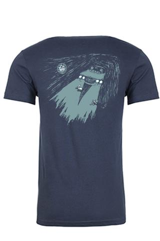 G&S Neil Blender NIGHT DRIVE T shirt - INDIGO BLUE