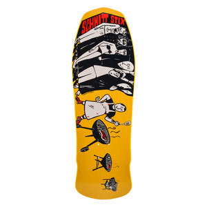 Schmitt Stix JOE LOPES BBQ reissue Skateboard Deck - YELLOW