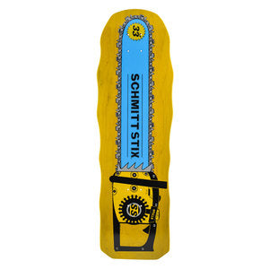 Schmitt Stix Chainsaw Re-Issue skateboard Deck - YELLOW