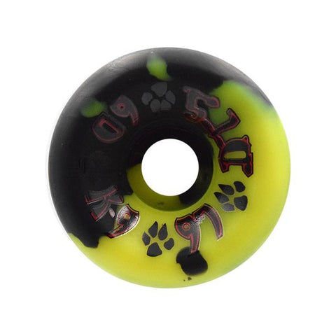 Dogtown K9 skateboard wheels 60mm 97a - BLACK YELLOW SWIRL