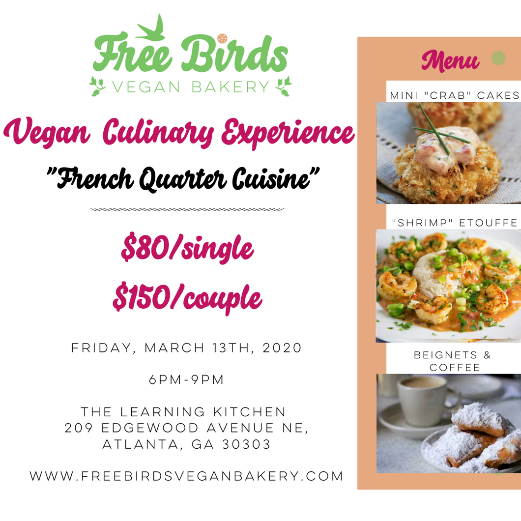 Vegan Culinary Experience - French Quarter Cuisine - March 2020