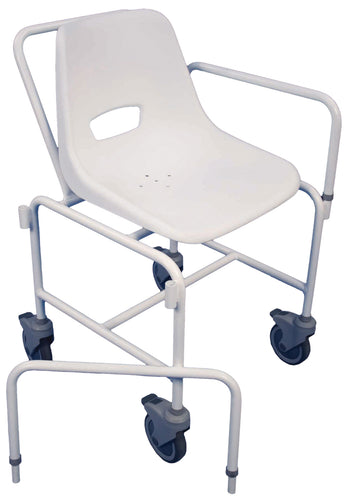 The Charing Attendant Propelled Shower Chair with detachable arms