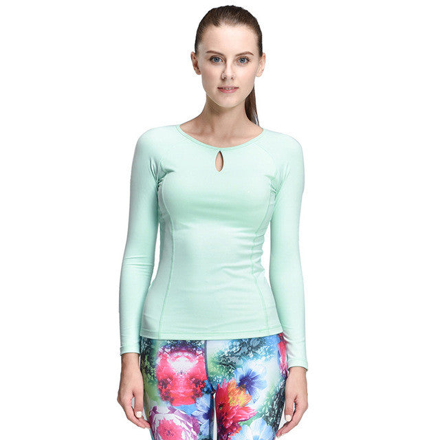 Women Compression Sport T-Shirt Running Mujer Deportivas Woman FitnessT-Shirt Running Women Clothes Long Sleeve Yoga Tops