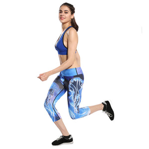 Women Fitness Yoga Pants Women Fitness Slim Sexy Yoga Leggings Elastic Pants High Waist Ladies Running Tights