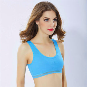 Women Professional Fitness Yoga Top Athletic Running Sports Bra Stretch Padded Sportswear
