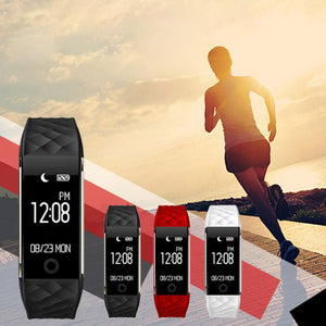 Bluetooth LED Waterproof Smart Wrist Pedometer Bracelet wearable Health Tracker