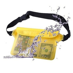 Sports Waterproof Pouch Waist Bag Beach Pouch Yellow Color