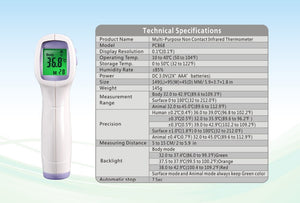 New Baby/Adult Digital Multi-Function Non-contact Infrared Forehead Body Thermometer Gun MFA-22