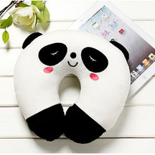 Comfortable Multi-Color Cartoon U Shaped Neck Travel Pillow