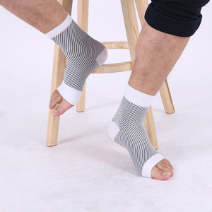 1 Pairs Fitness Men Women Yoga  Anti Fatigue Flexible Compression Foot Sleeves Short Yoga Sport Socks