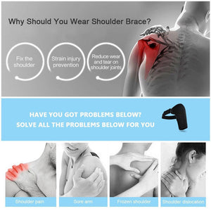 Shoulder Brace Men Adjustable Unisex Left Shoulder Support Brace Dislocation Hot Cold Therapy Corrector Strap