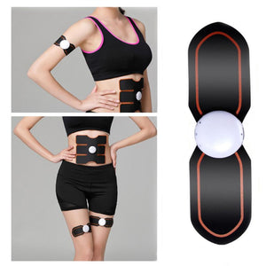 1PC Outdoor Electrical Muscle Simulation Body Fit Health ABS Two Pad EMS Training Gear Fitness Equipment #S0