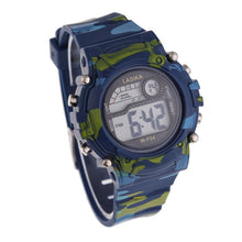 Children Camouflage Swimming Sports Digital Wrist Watch Waterproof