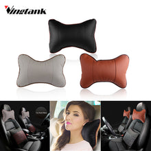 PU Leather Car Neck Pillow Memory Foam Fabric