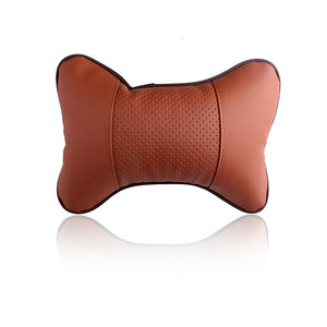 PU Leather Car Neck Pillow Memory Foam Fabric at Affordable Price