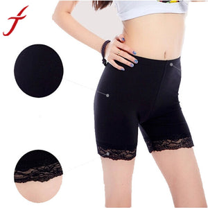 JECKSION Leggings For Women New Summer Female Gril's Sweet Lace Trim Leggings Short  Shipping