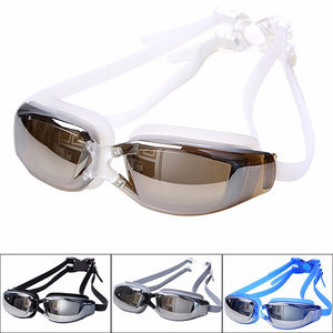 Adult Professional Waterproof Anti-Fog UV Protect Swim Glasses