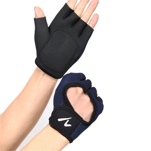 Men's Half Finger Gloves Outdoor Fitness Hand Palm Protector Gym Sport