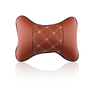Car Leather Headrest Neck Pillow at Affordable Price