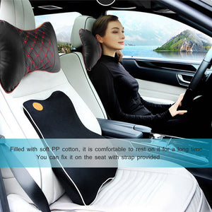 Auto Seat Cover Head and Neck Rest Cushion Pillow for Car