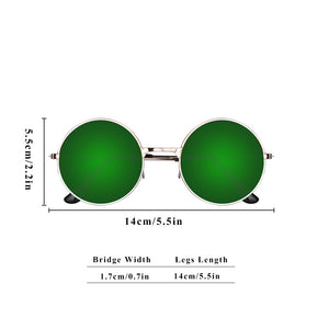 Vintage Round Mirror Metal Frame Sunglasses with Premium Quality