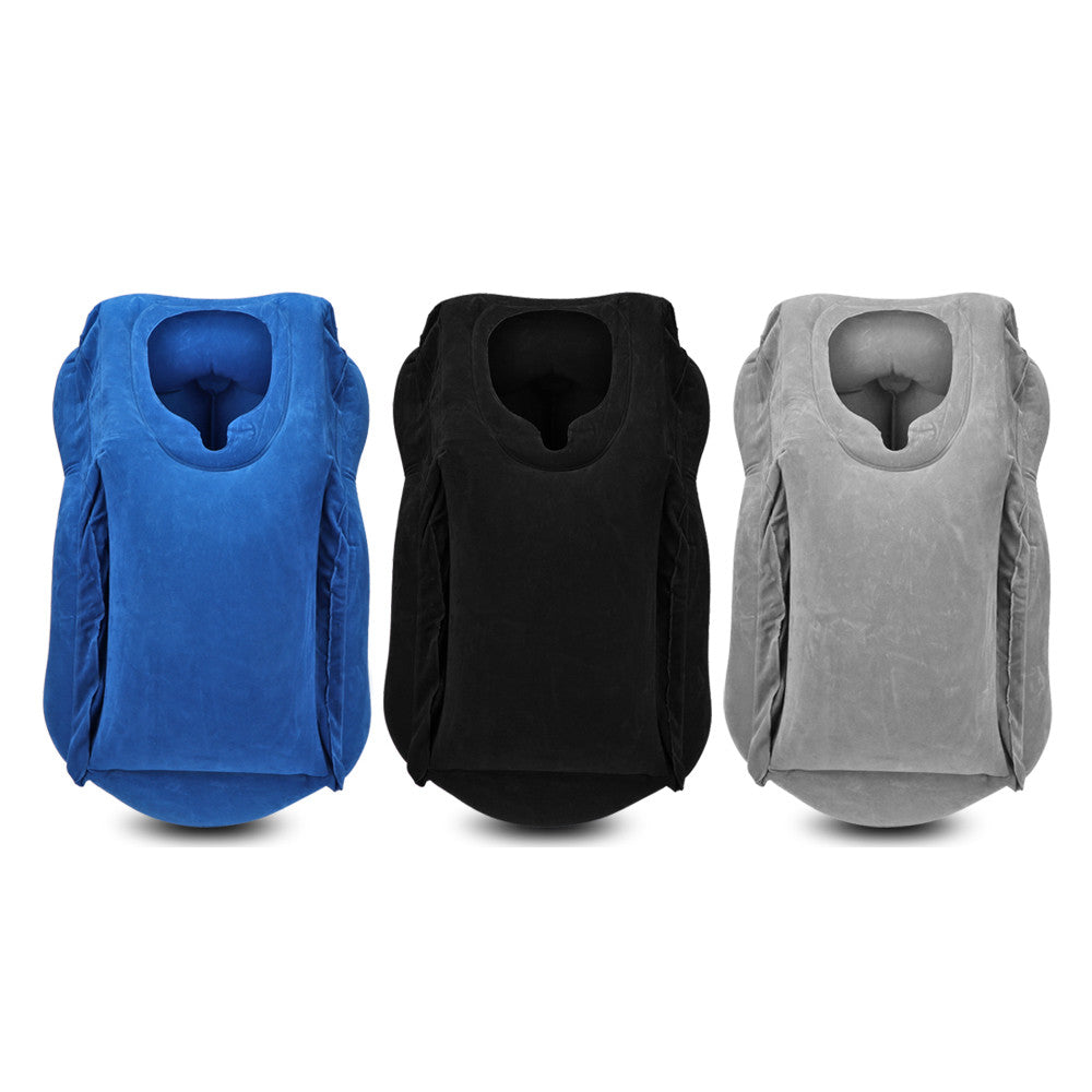 Inflatable Travel Neck Body Seat Pillow with Premium Quality