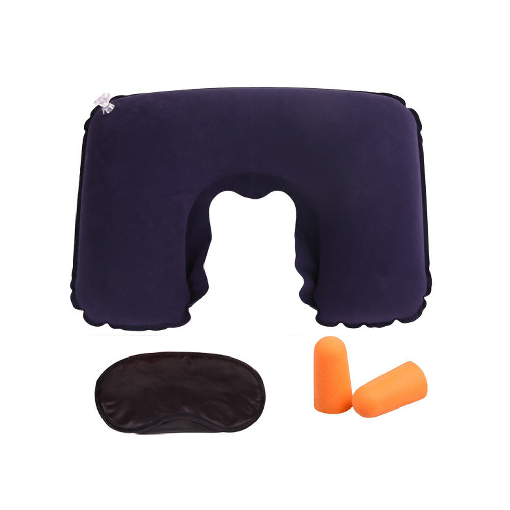 Inflatable Travel Pillow Air Cushion Neck with U-Shaped Compact at Affordable Price