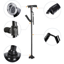 Premium Quality Adjustable LED Trusty Walking Cane for Elderly