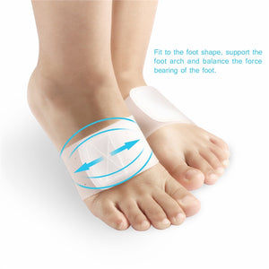 ETEREAUTY Arch Support Bandage Cushions Silicone Feet Arch Support Band Pads Inserts for Shoes