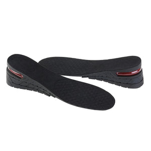 Pair of Unisex 3-Layer Air Cushion Increase Height Insole Taller Pad