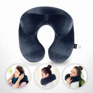 Inflatable U-Shaped Travel Pillow for Airplane with Premium Quality