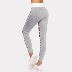 Womens Yoga Workout Gym Leggings Fitness Running Sports Pants Stretch Trouser Elastic Waist Pants