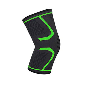 Buy Knee Brace or Sleeve to Protect Knee Black and Green Color