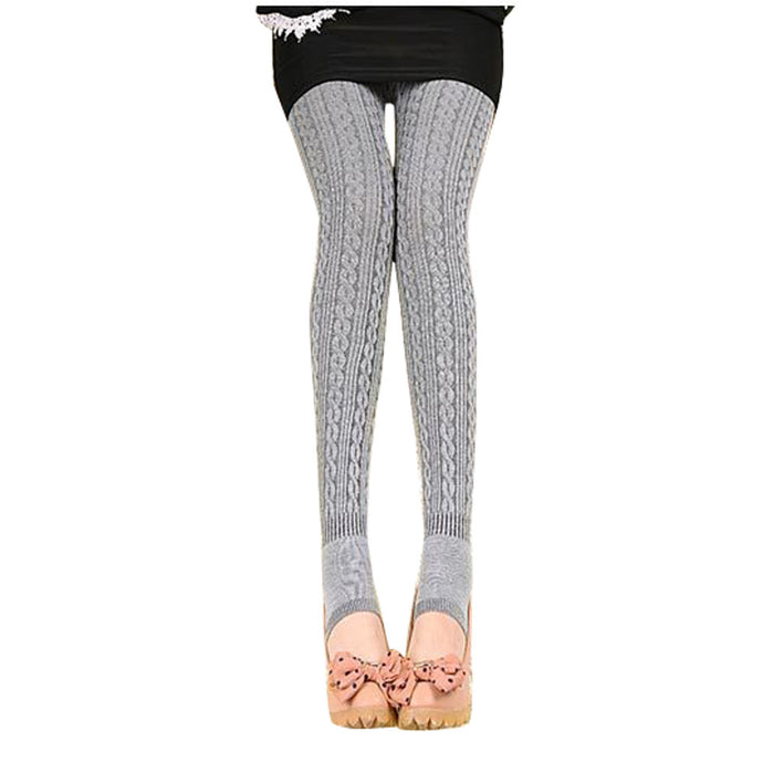 Winter Warm Girl Comfortable Women Cotton Tights Pants Leggings Stirrup Trousers