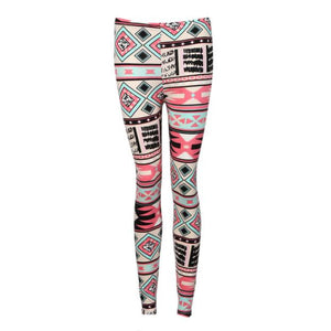 Fashion Women Lady Elasticity Skinny Tribal Printed Stretchy Pants Leggings