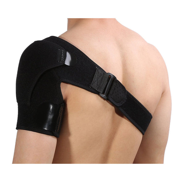 Black Shoulder Brace Support Strap Wrap Belt Dislocation Neoprene Pain Relieve