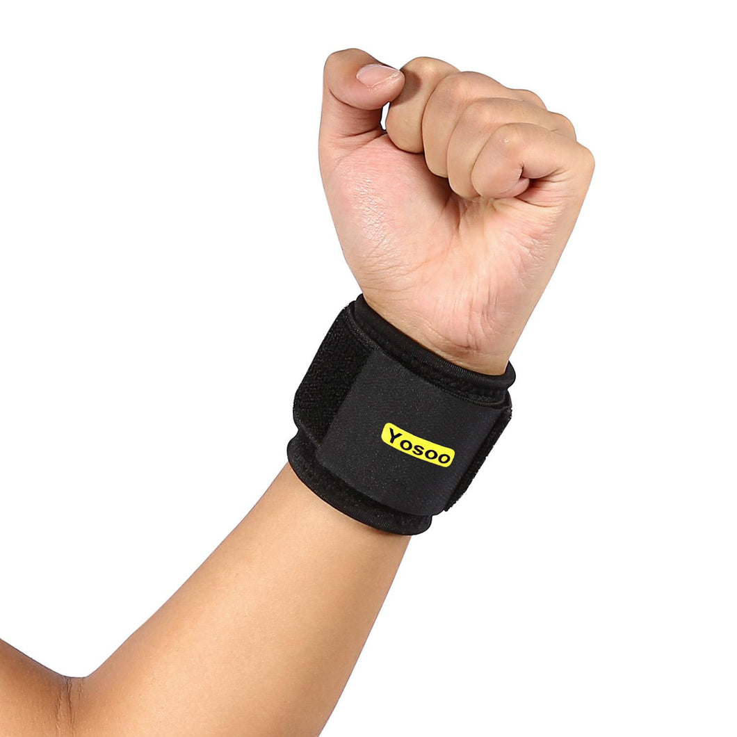 Breathable Neoprene Adjustable Silicon Wrist Support