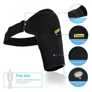 Men & Women Tear Injury | Relieve Pain, Stabilize & Protect Shoulders With Adjustable Strap Support for Rotator Cuff