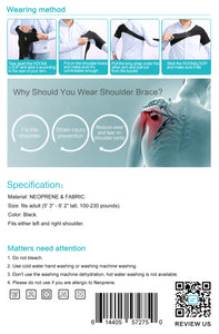Shoulder Tear Injury Brace to Protect Shoulders with Excellent Quality