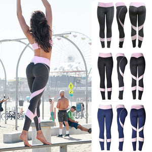 Women Skinny Leggings High Waist Elastic Yoga Fitness Sports Heart-Shaped Elasticity Pants