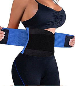 Women Waist Trainer Belt Body Shaper Belly Wrap - Trimmer Slimmer Compression Band for Weight Loss Workout Fitness