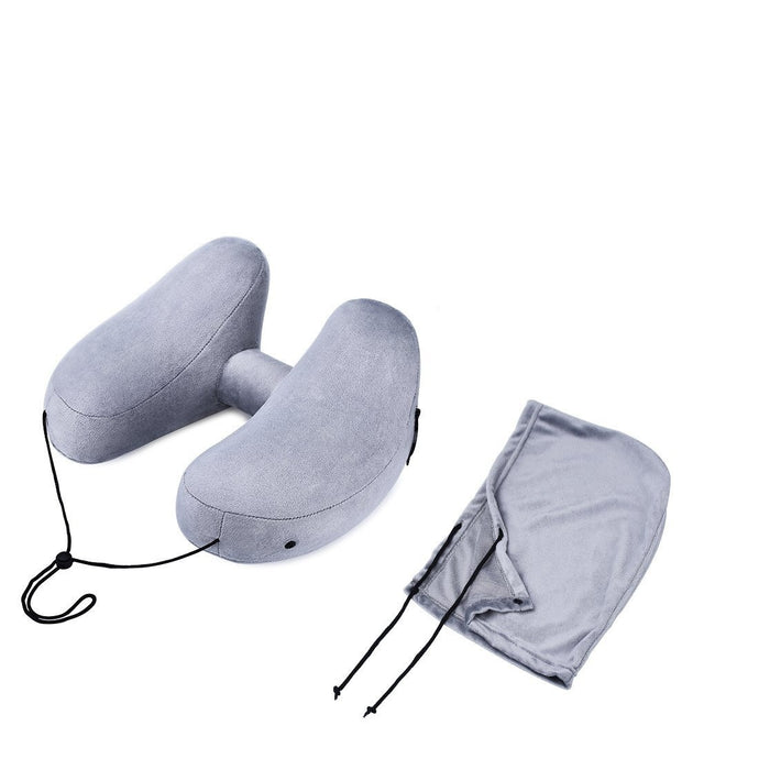 Travel Pillow for Airplanes Inflatable H Shape Neck Pillow Set