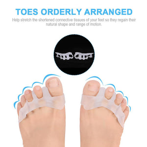 Gel Toe Separator Toe Spacers Toe Stretchers for Men and Women Easy Wear in Shoes, Toe Bunion Relief Toe Straightener