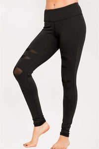 High performance legging with a cut out design