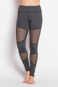 Stylish mesh workout high performance legging.