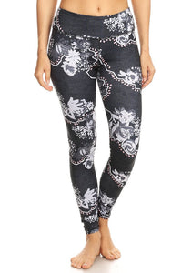 High Quality Hi-Rise Printed Legging