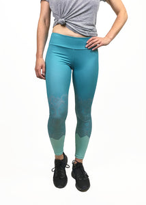Geometric Colorblock Legging in Blues
