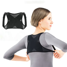 Adjustable Posture Corrector Back Shoulder Support Belt Adult Nylon Corset Back for Men Women