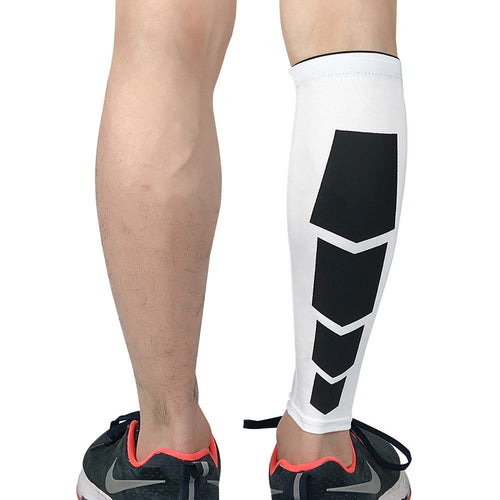 Calf Compression Leg Sleeve Shin Guard Support Socks for Running Cycling Hiking Badminton Football
